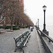 Battery Park Print by Michael Peychich