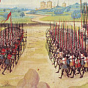 Battle Of Agincourt, 1415 Print by Granger