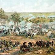 Battle Of Gettysburg Print by War Is Hell Store
