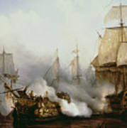 Battle Of Trafalgar Print by Louis Philippe Crepin