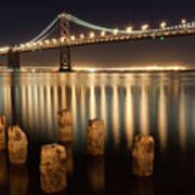 Bay Bridge Reflections Print by Connie Spinardi