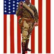 Be A Us Marine Print by War Is Hell Store