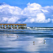 Beach At Isle Of Palms Print by Dominic Piperata