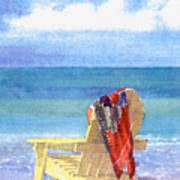 Beach Chair Print by Shawn McLoughlin