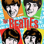 Beatles Pop Art Print by Jim Zahniser
