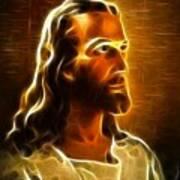 Beautiful Jesus Portrait Print by Pamela Johnson