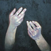 Beckoning Hands Print by Douglas Manry