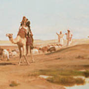 Bedouin In The Desert Print by Frederick Goodall