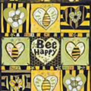 Bee Happy Print by Jen Norton