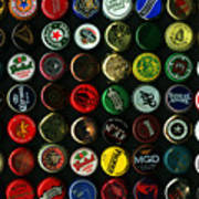 Beer Bottle Caps . 9 To 16 Proportion Print by Wingsdomain Art and Photography
