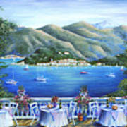 Bellagio From The Cafe Print by Marilyn Dunlap