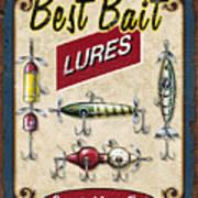 Best Bait Lures Print by JQ Licensing