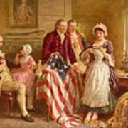 Betsy Ross 1777 Print by Jean Leon Gerome Ferris
