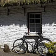 Bike At The Window County Clare Ireland Print by Teresa Mucha