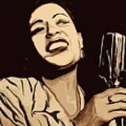 Billie Holiday Print by Jeff DOttavio