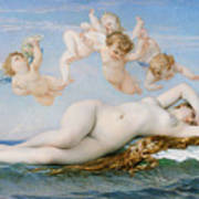 Birth Of Venus Print by Alexandre Cabanel