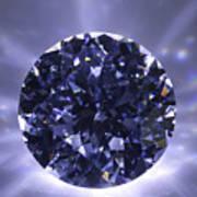 Black Diamond Shine Aura. Print by Atiketta Sangasaeng