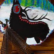 Black Elk Drum Painting Print by Karon Melillo DeVega
