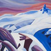 Black Tusk Sunrise Print by Ginevre Smith