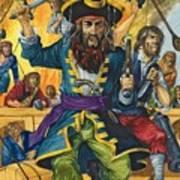 Blackbeard Print by Richard Hook
