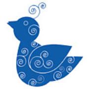 Blue Bird Print by Frank Tschakert