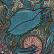 Blue Crab Print by Stu Hanson