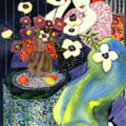 Blue Harmony  Print by Leslie Marcus