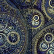 Blue Machine Print by Martin Capek