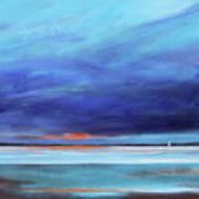 Blue Night Sail Print by Toni Grote