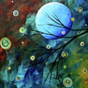 Blue Sapphire 1 By Madart Print by Megan Duncanson