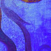 Blue Seed Print by Ishwar Malleret