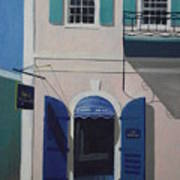 Blue Shutters In Charlotte Amalie Print by Robert Rohrich