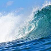 Blue Tube Wave Print by Paul Topp