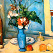 Blue Vase By Paul Cezanne Print by Pg Reproductions