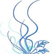 Blue Vine Print by Svetlana Sewell