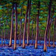 Bluebell Wood Print by Johnathan Harris