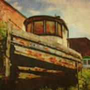 Boat At Apalachicola Print by Toni Hopper