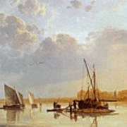 Boats On A River Print by Aelbert Cuyp