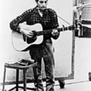 Bob Dylan B. 1941 Playing Guitar Print by Everett
