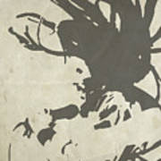 Bob Marley Grey Print by Naxart Studio