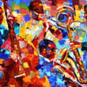 Bold Jazz Quartet Print by Debra Hurd