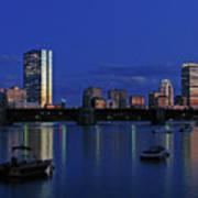 Boston City Lights Print by Juergen Roth