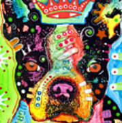 Boston Terrier Crowned Print by Dean Russo