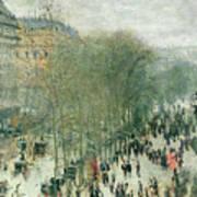 Boulevard Des Capucines Print by Claude Monet