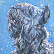 Bouvier Des Flandres Snow Print by Lee Ann Shepard