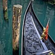 Bow Of Gondola In Venice Print by Michael Henderson