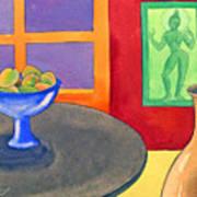 Bowl Of Mangoes Print by Jennifer Baird