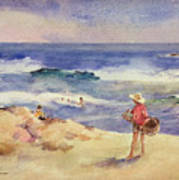 Boy On The Sand Print by Joaquin Sorolla