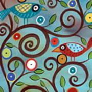 Branch Birds Print by Karla Gerard