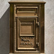 Brass Mail Box Nyc Print by Robert Ullmann